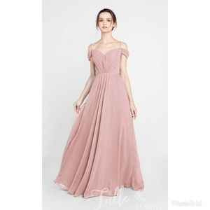 Dusty Rose Off the Shoulder Gown